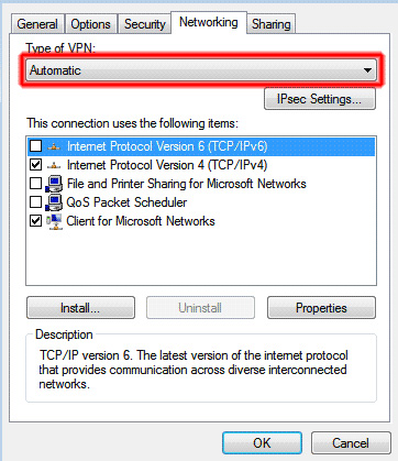 HideIpVPN IpSec Vista