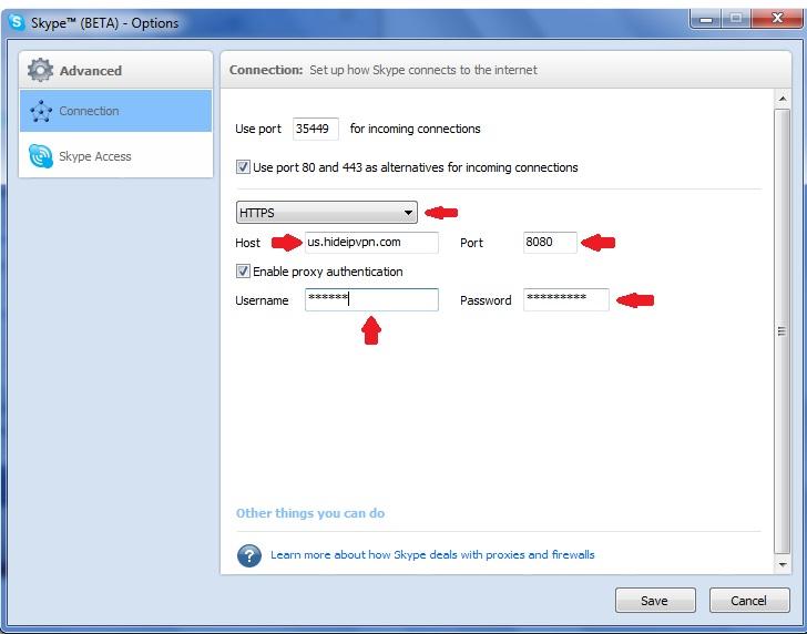 skype over proxy