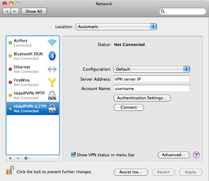 how to find shared secret vpn mac