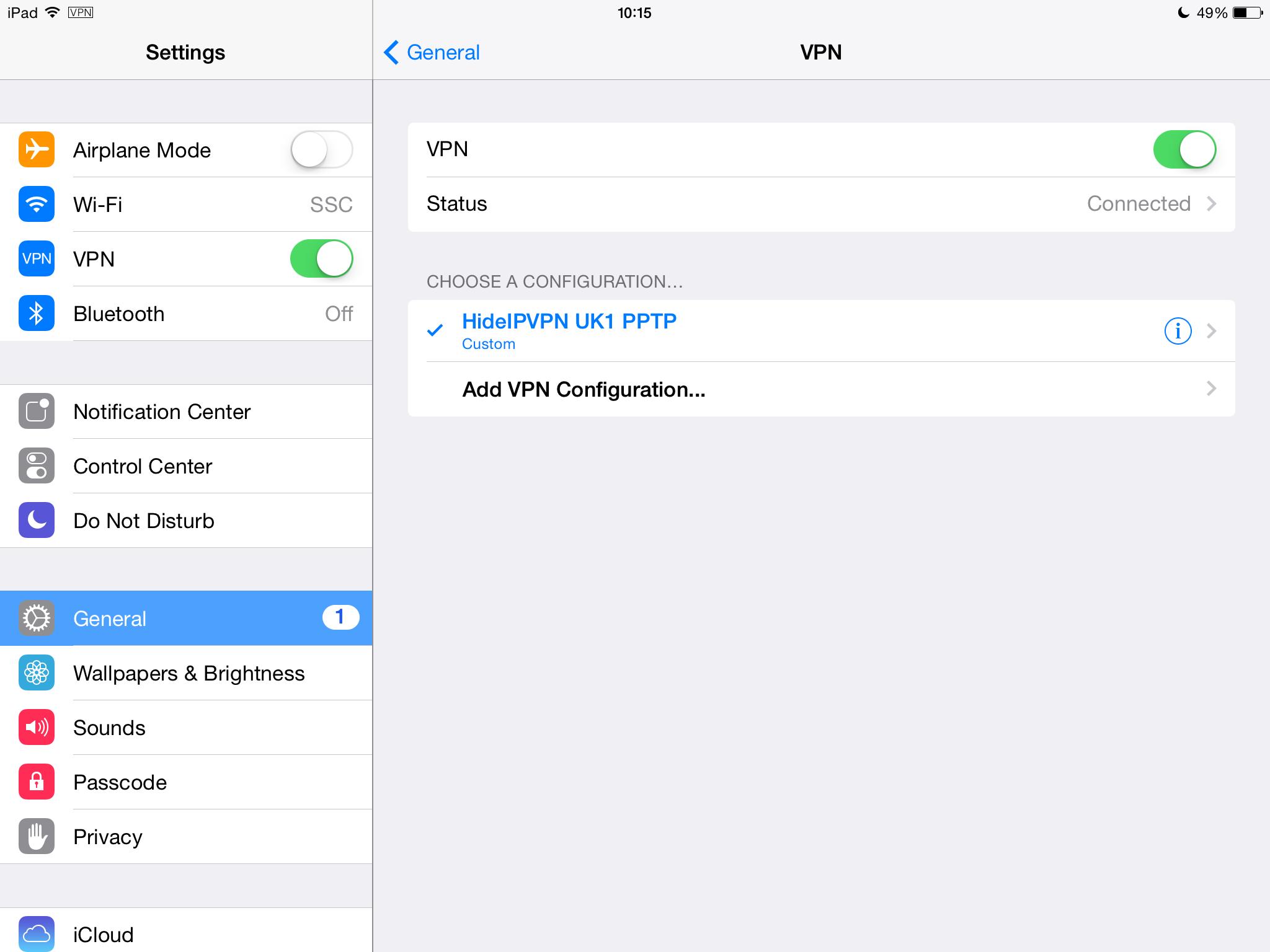 iPad PPTP VPN Setup Tutorial - HideIPVPN
