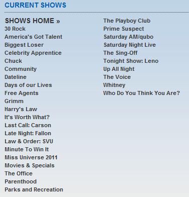NBC Shows