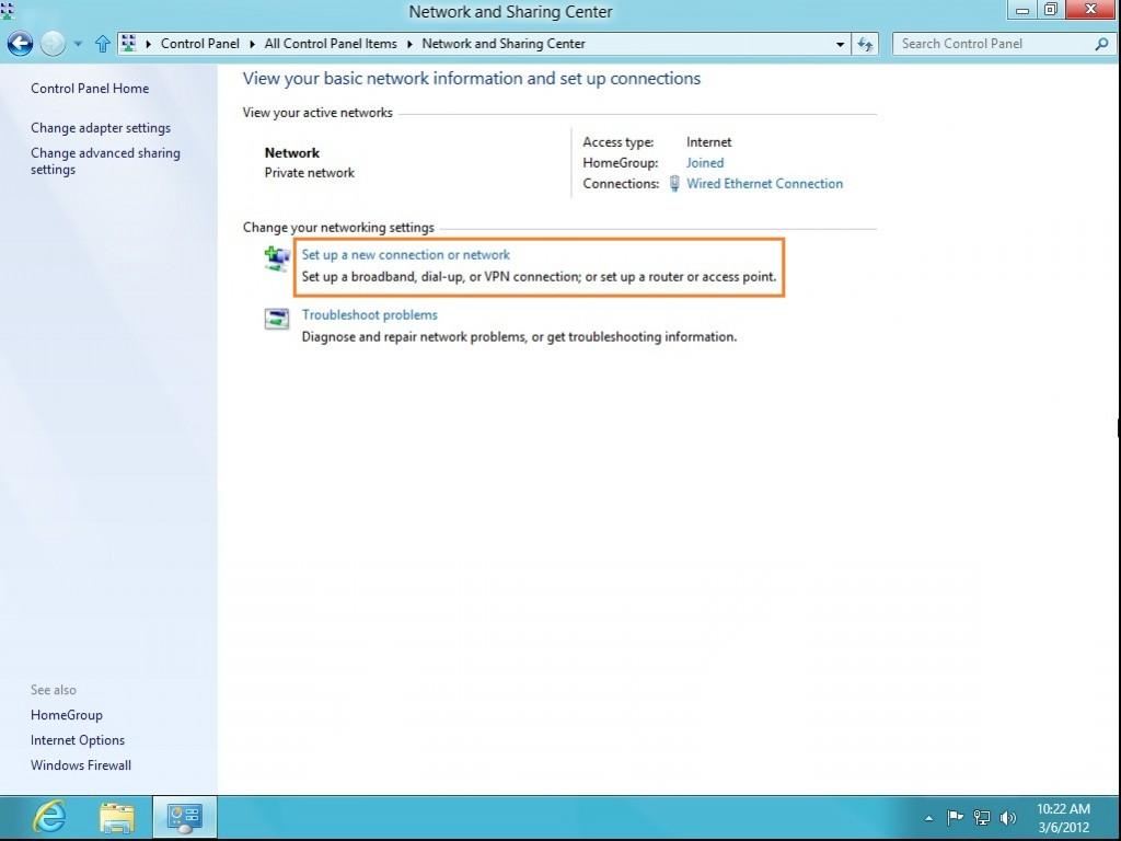 How to setup SSTP VPN on Windows 8