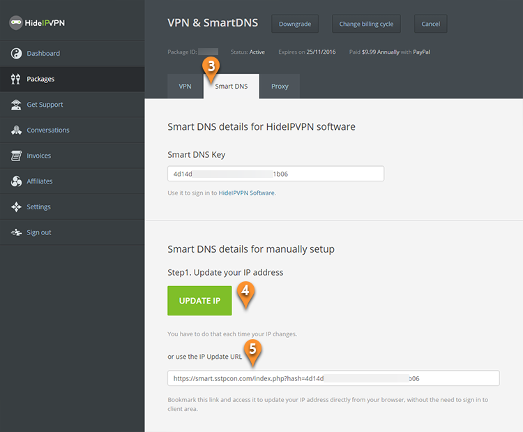 How to update user's IP address for Smart DNS - HideIPVPN