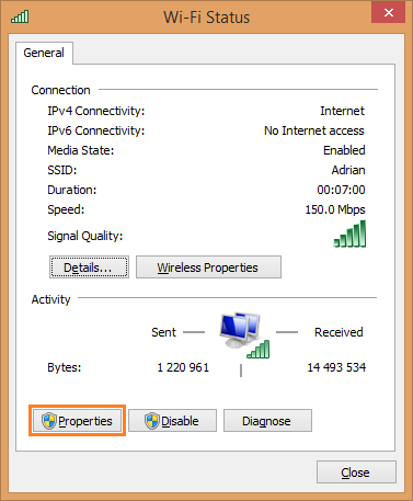 Windows 8 Smart DNS setup