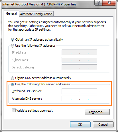 SmartDNS setup Windows 7
