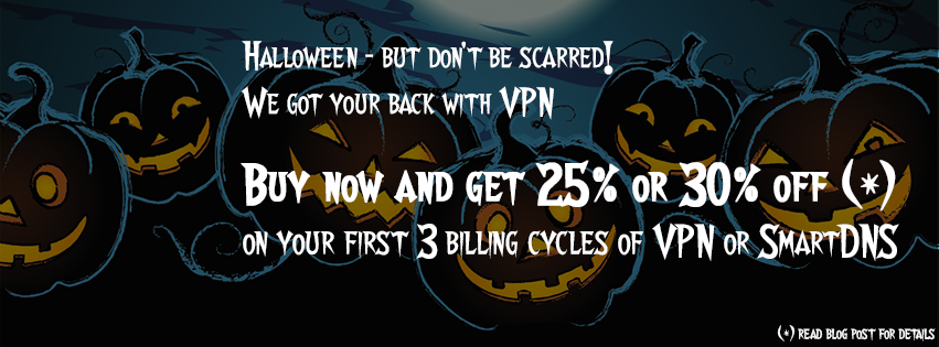 Halloween sale of VPN and SmartDNS