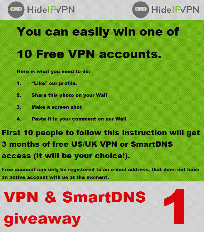 Free Smart DNS give away