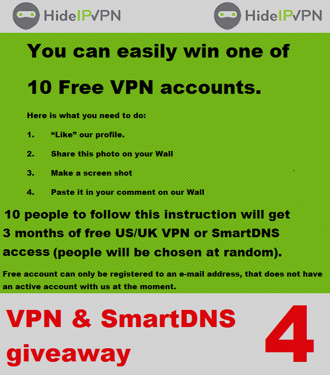 Free US UK VPN
