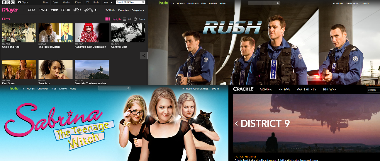 iplayer bbc hulu crackle free movies