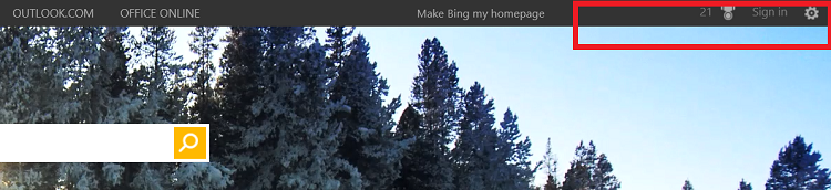 Bing sign in