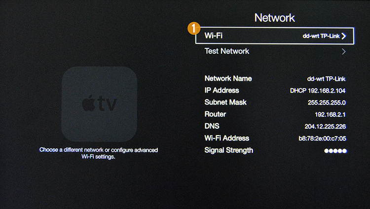 how to connect apple tv to wireless network