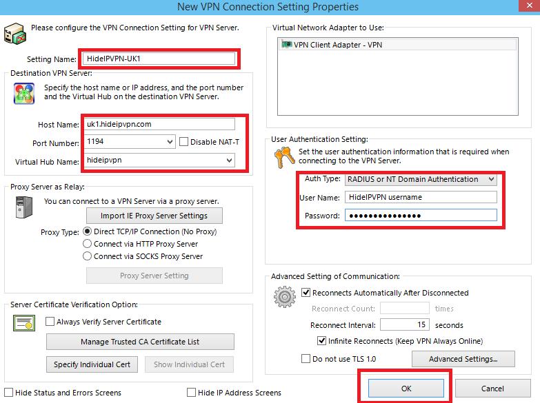 SoftEther VPN Windows 10