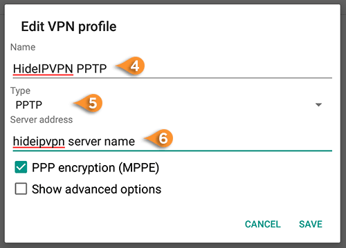 Lollipop PPTP VPN