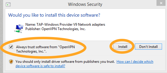 OpenVPN on Windows 10