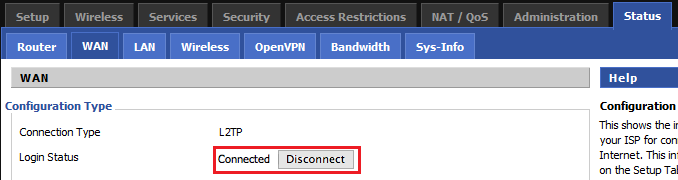 L2TP VPN setup on DD-WRT router