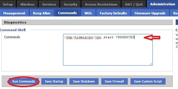 DD-WRT PPTP VPN setup