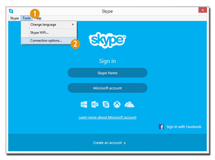 proxy on skype