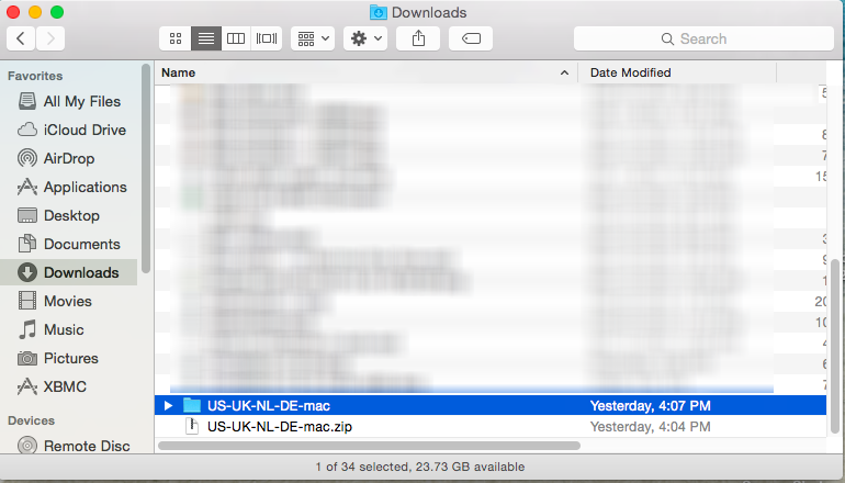 Open VPN client on Mac OS X
