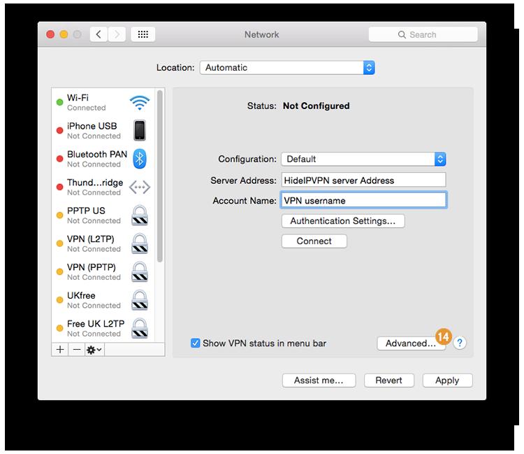 VPN on Mac