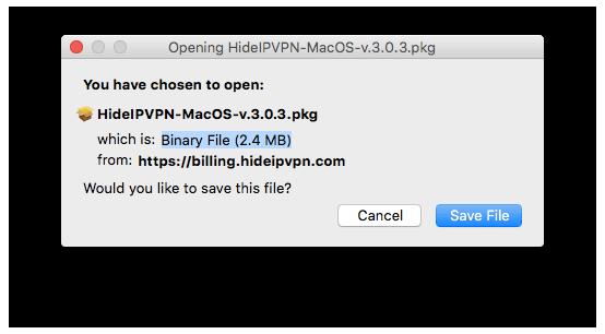 HideIPVPN MacOS X VPN and Smart DNS software