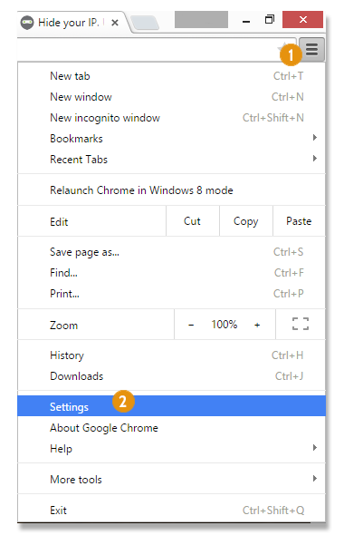 How to setup proxy on Chrome browser