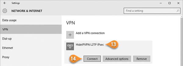 L2TP IPsec with pre-shared key VPN on windows 10