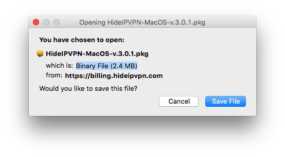 VPN software for Mac OS X