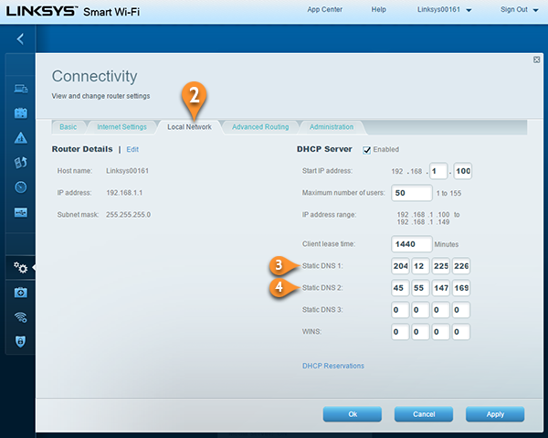 Smart DNS on Linksys