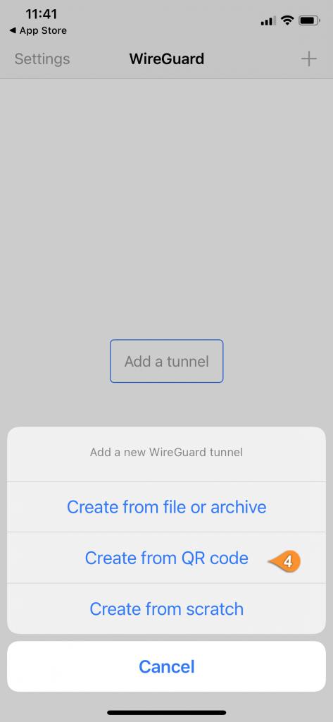 wireguard ios scan qr code