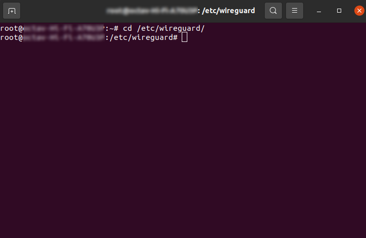 enter wireguard folder