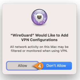 wireguard macos allow vpn